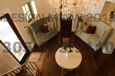 Custom Made Upholstered Velvet Banquette W/Custom Throw Pillows.