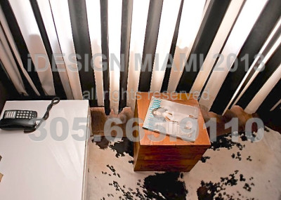 Custom Made Ripplefold Stripe Curtains + Manual Blackout Rollershades.